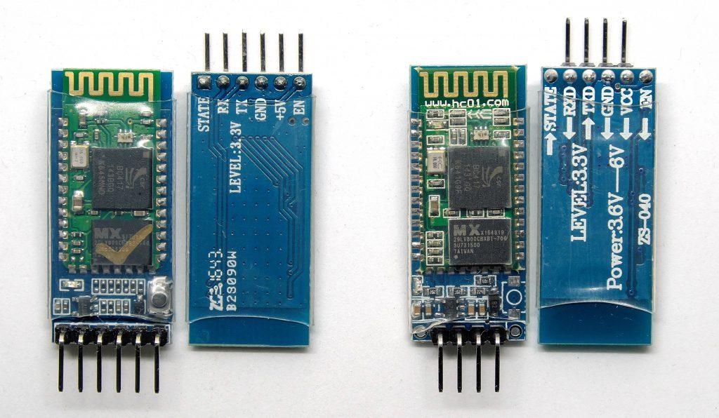 Beispiele für HC-05 und HC-06 Bluetooth Module
