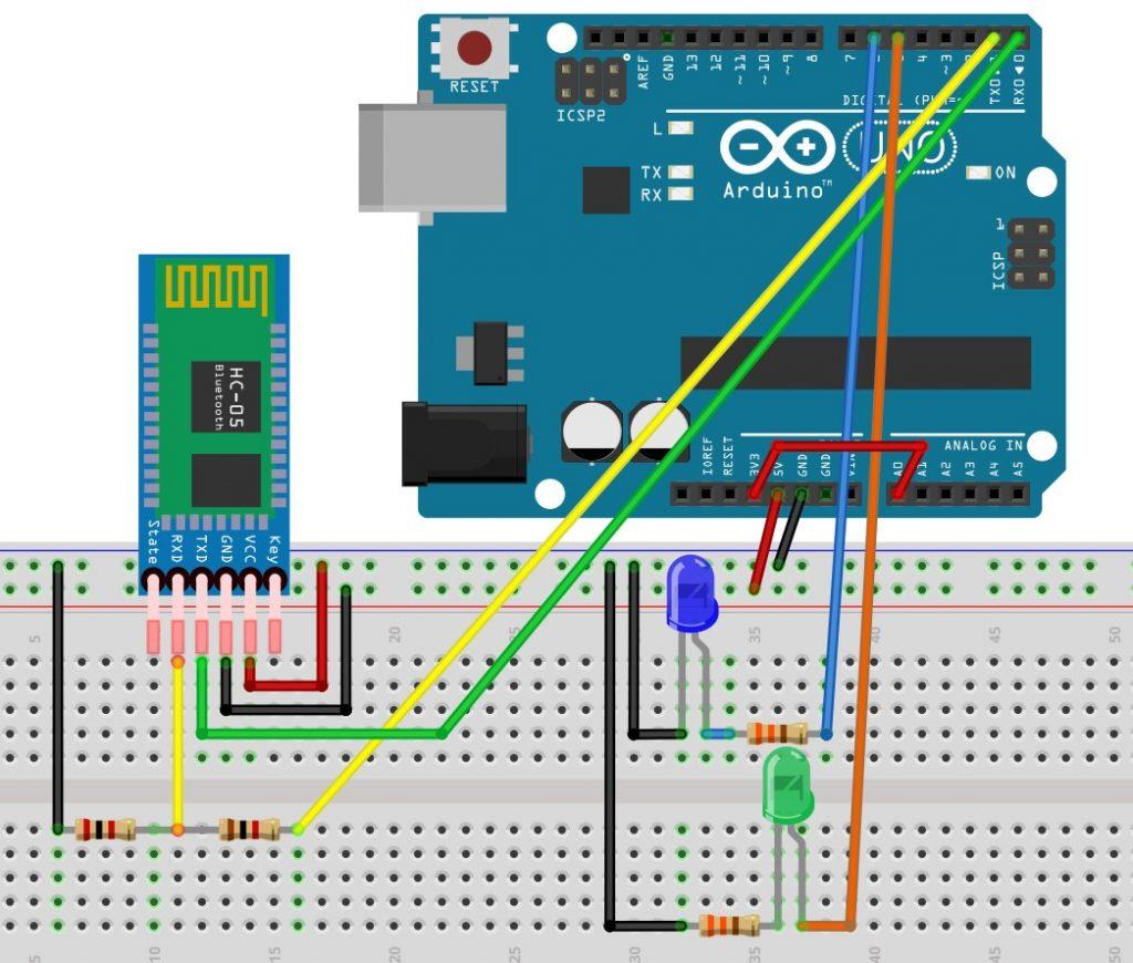 Arduino mit dem Smartphone steuern - Schaltung für die Ardroid App