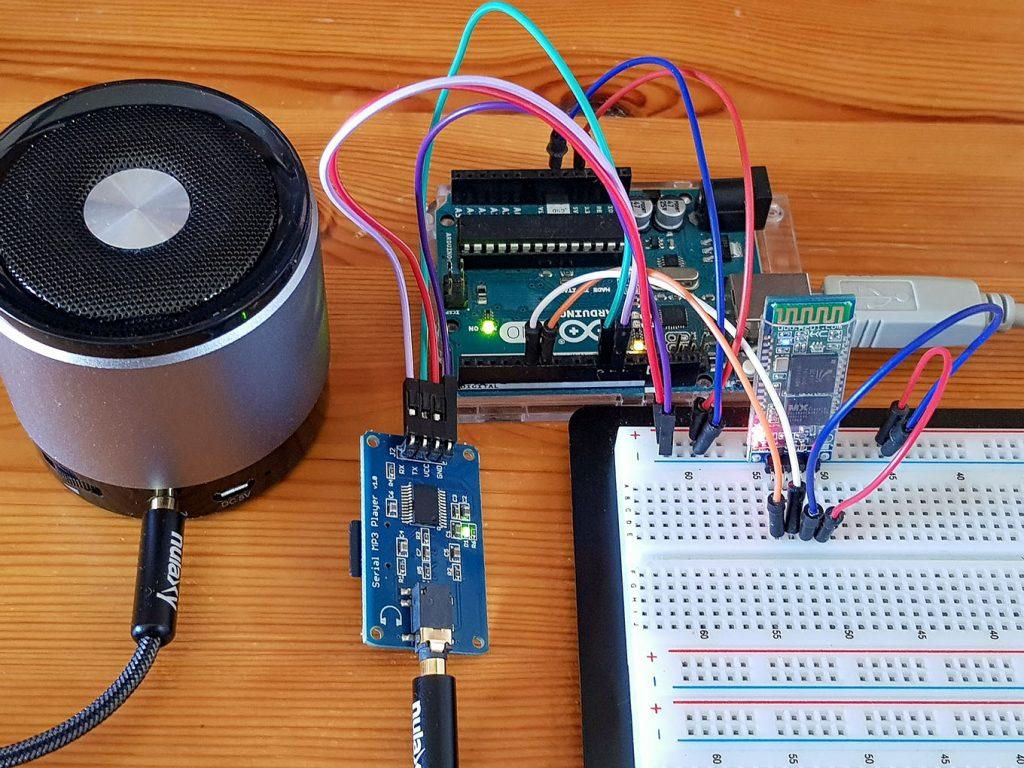 Arduinoseite des smartphonegesteurten MP3 Players