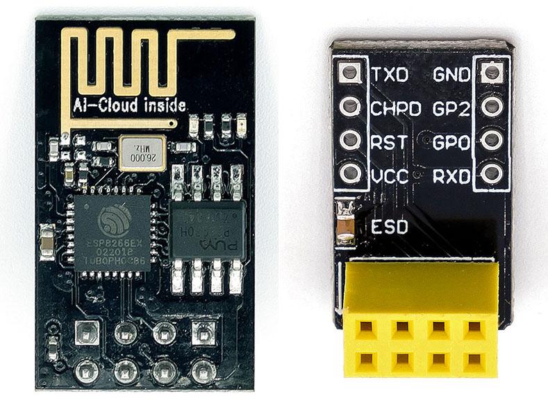 ES8266 ESP-01 Modul mit Breadboard Adapter