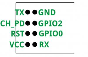 Pinbelegung des ESP8266 ESP-01 Moduls