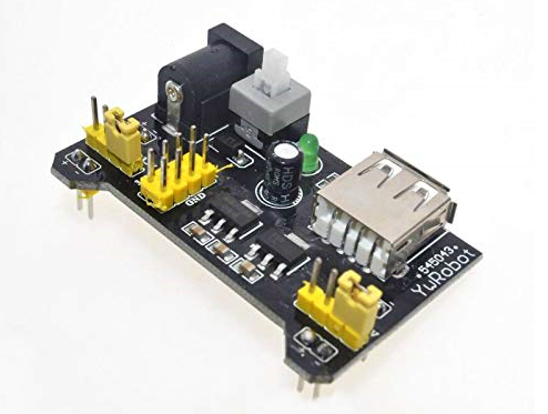 Power supply for the breadboard
