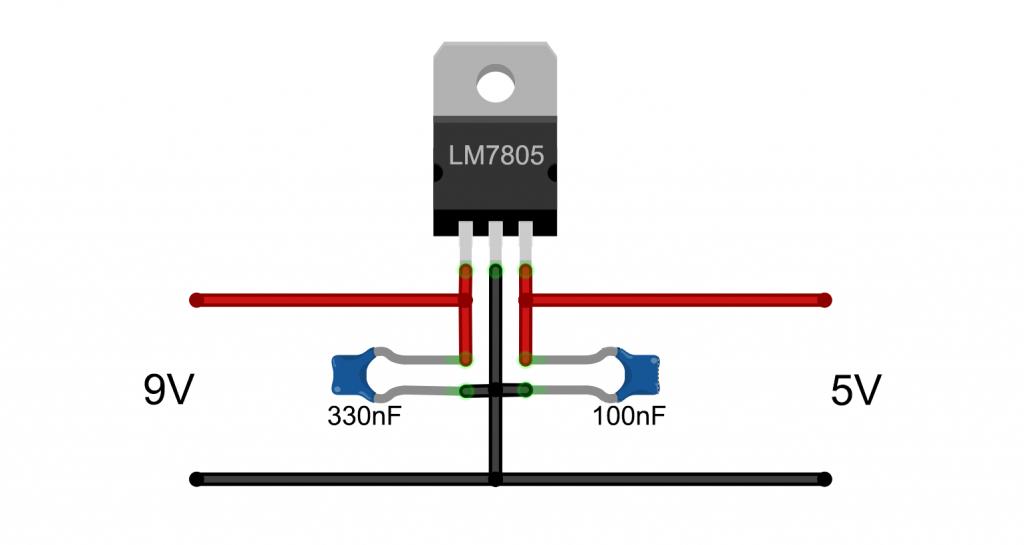 5V Stromversorgung mit einem LM7805