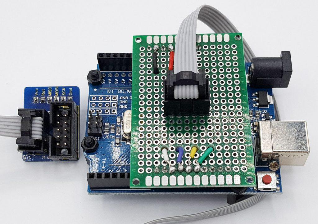 Adapter Shield zur Programmierung von ATtiny85 & Co