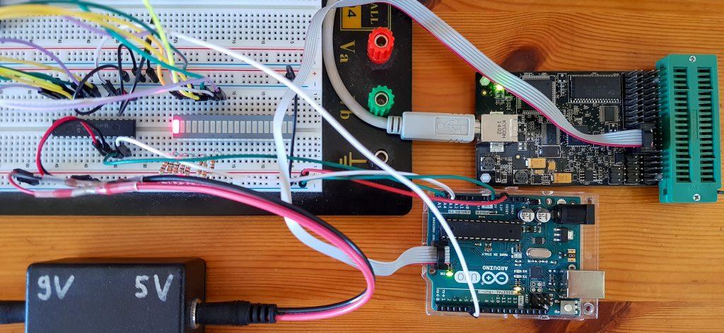 Debugging für den Arduino - Beispielschaltung mit AVR Dragon als Programmer