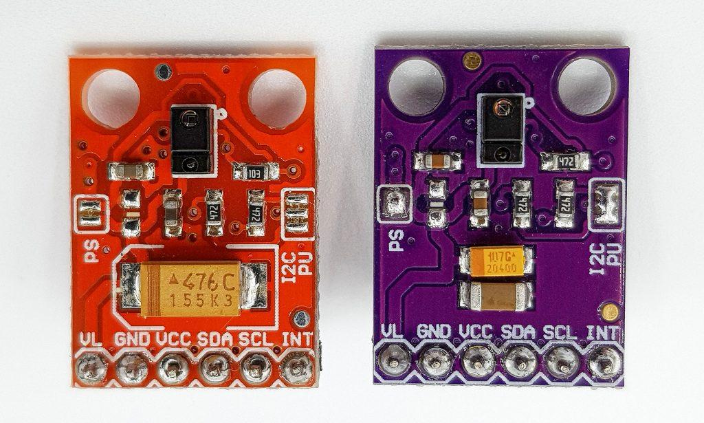 Zwei APDS-9960 Module