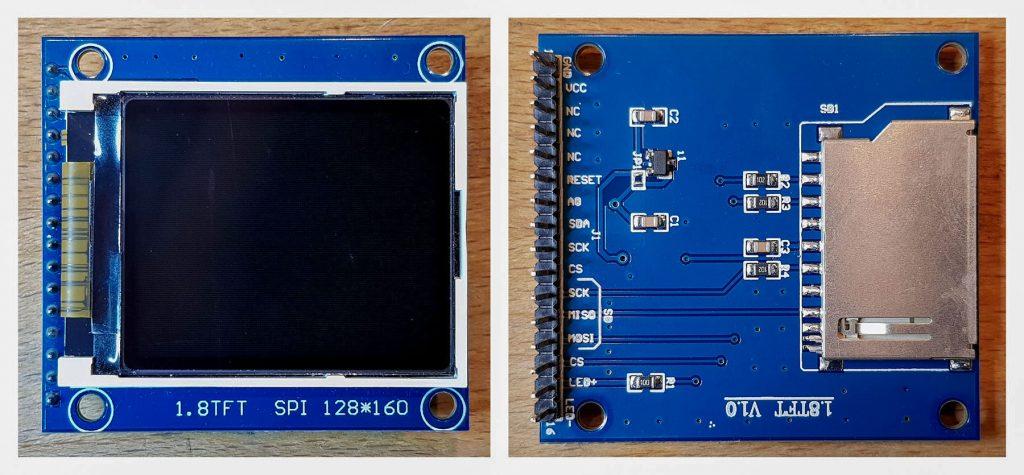 Das Display für Pong for Arduino