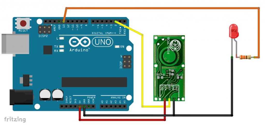 Schaltung: RCWL-0516 am Arduino