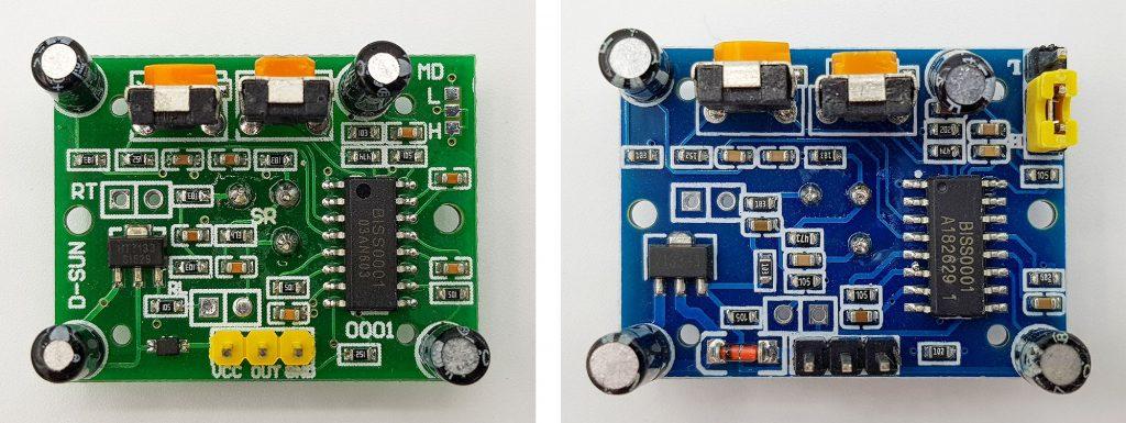verschieden HC-SR501 Module