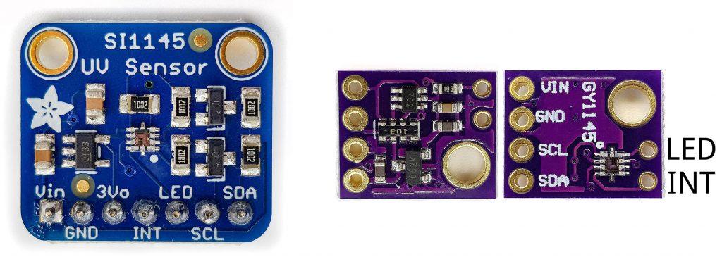 SI1145 Modul Ausführungen