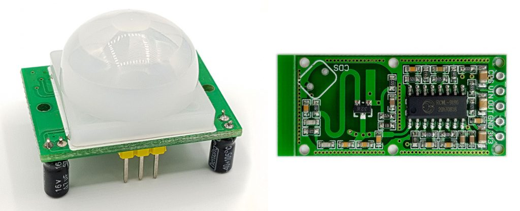Sensorvergleich: HC-SR501 und RCWL0516