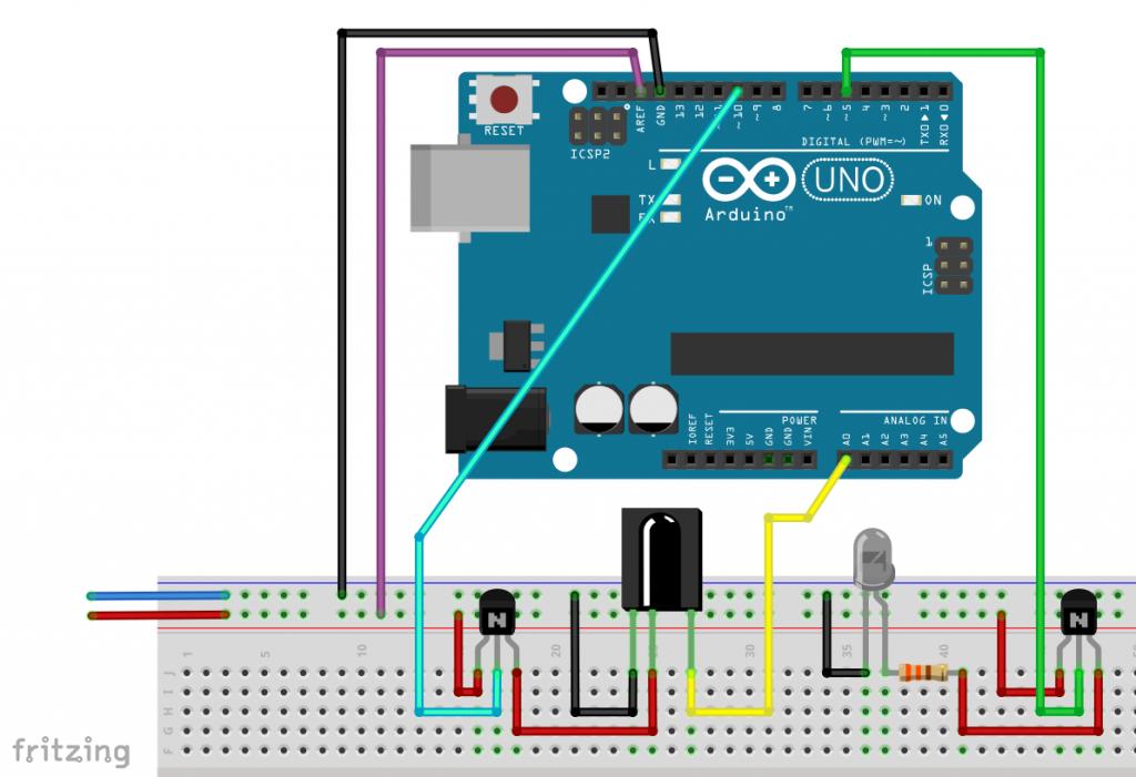 Build IR proximity sensor yourself - circuit for pulsed method