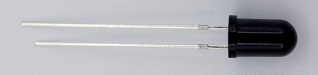 IR-Fotodiode: sieht aus wie eine schwarze LED