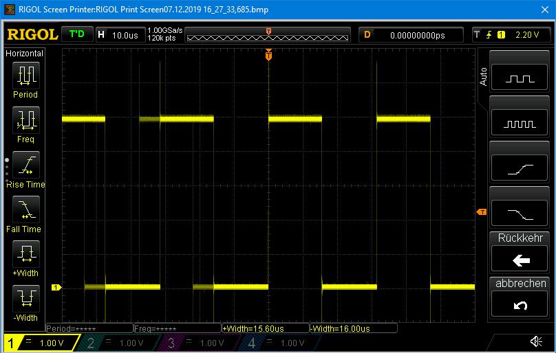 Signalerzeugung für IR Fernbedienungen mit digitalWrite und 13µs delay - die Pulsbreite wird zu groß