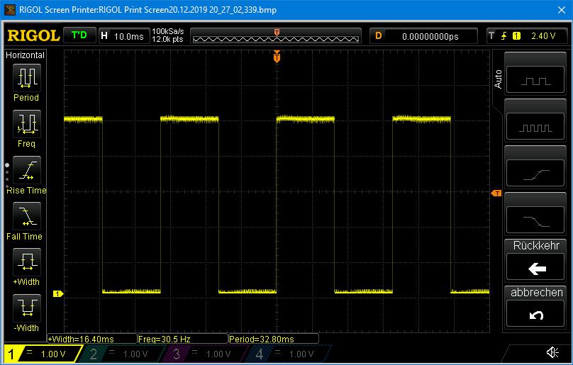 Minimale Frequenz im Normal Mode. Die Frequenz bezieht sich auf ein HIGH/LOW Paar.