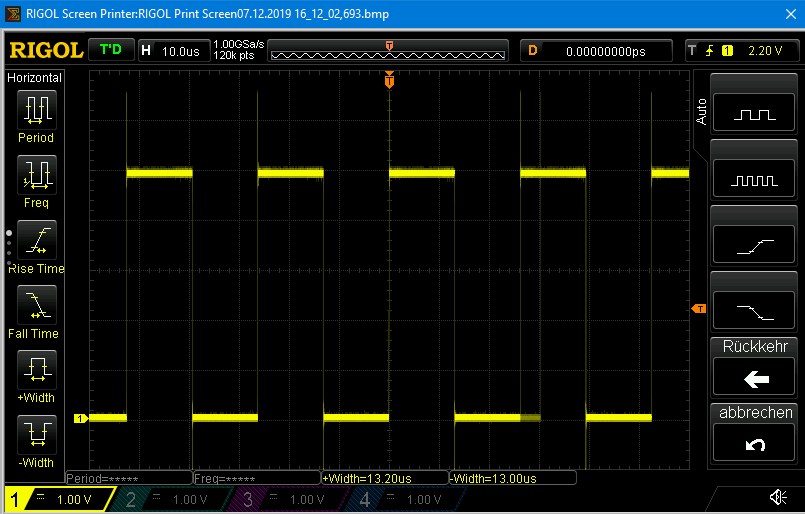 38 kHz Puls für IR Fernbedienungen  mit der tone() Funktion
