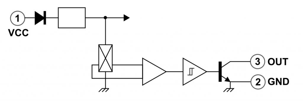 Blockschaltbild des Hall-Sensors 3144
