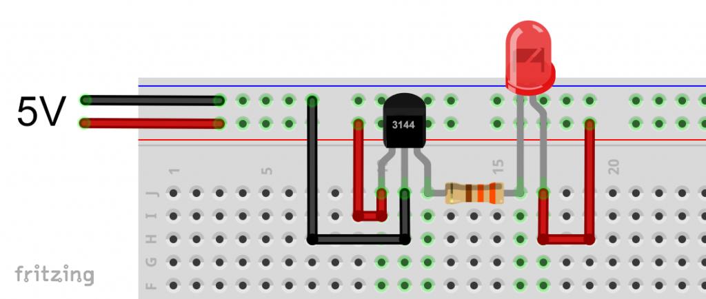 Einfache Schaltung zum Testen des 3144