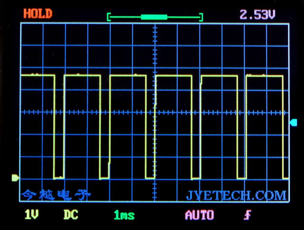 analogWrite(pin, 204) Signal, gemessen am DSO 138