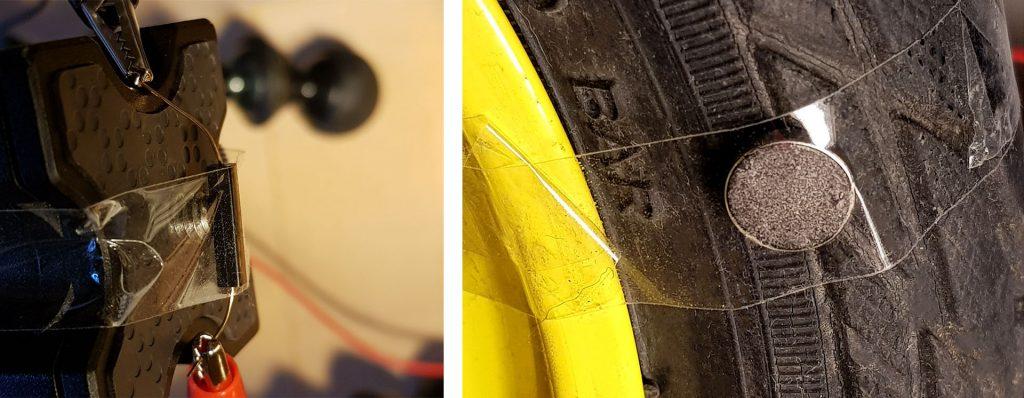 Links: Reed-Schalter, Rechts: Magnet