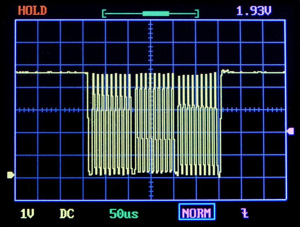 I2C Taktsignal im 100 kHz Modus; gemessen am DSO 138