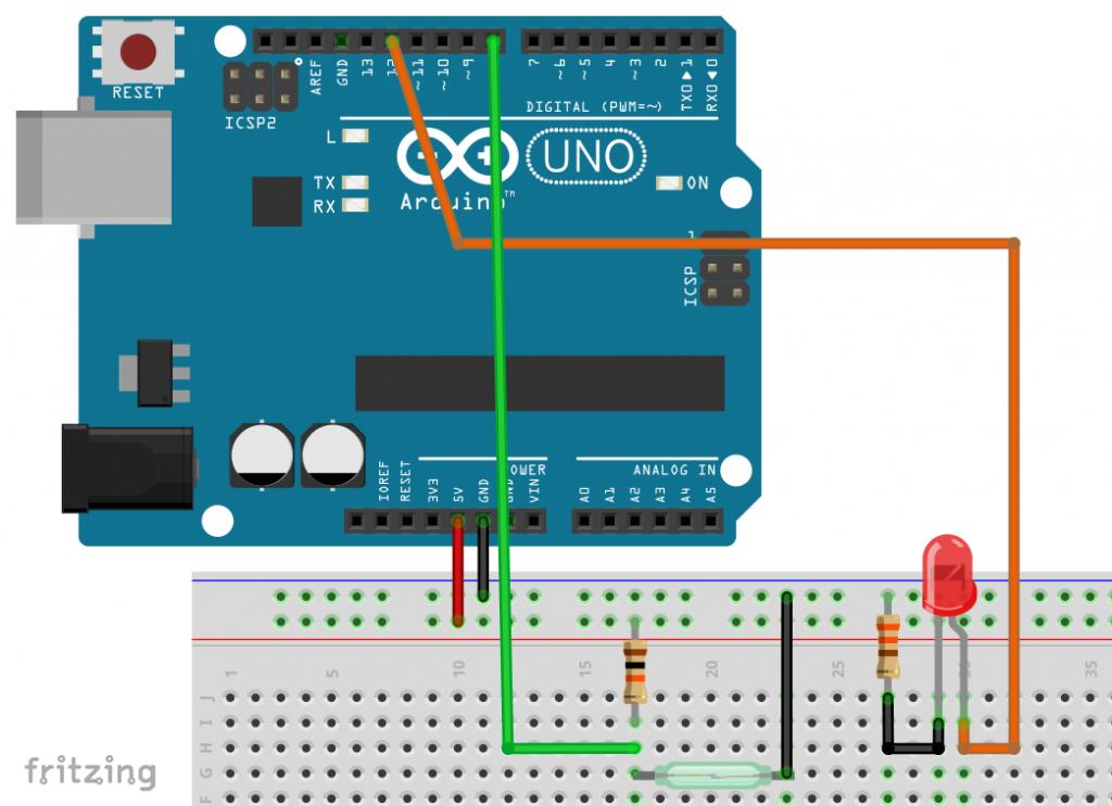 Reed-Schalter am Arduino