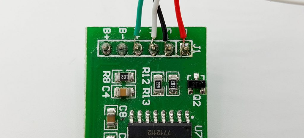 Anschluss der Wägezelle an das HX711 Modul