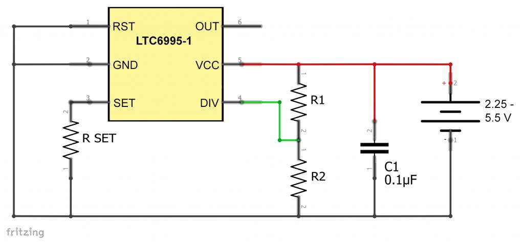 LTC6995-1 Oszillatorschaltung