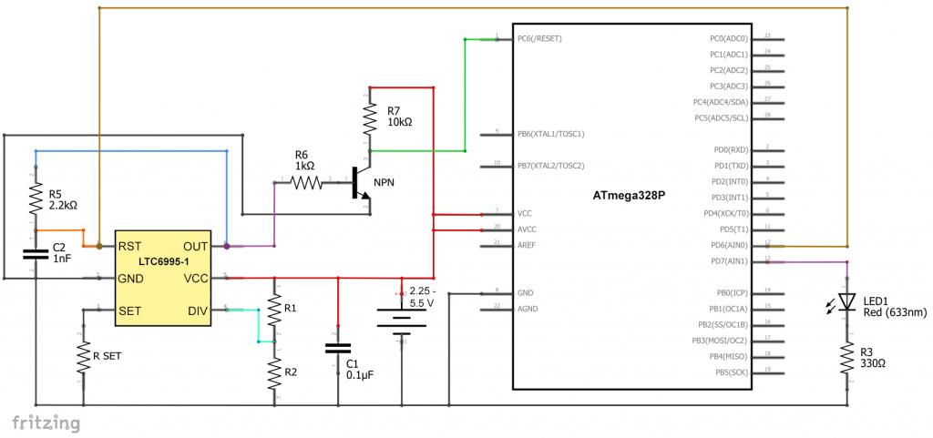 Watchdog Timer Schaltung für den ATmega328P