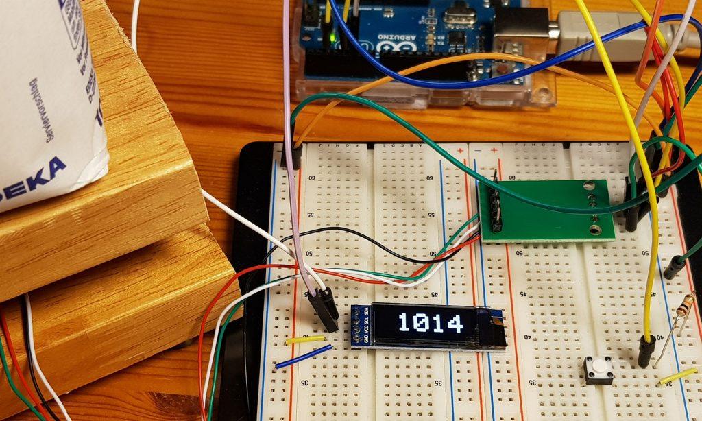 HX711 Waage OLED Display und Tara - Taster
