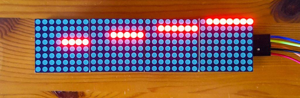 8x8x4 LED Matrix Display: meine Ausrichtung
