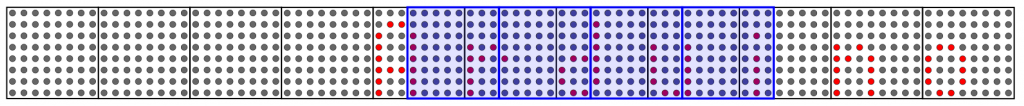Grey: Virtual display, blue: physically existing display