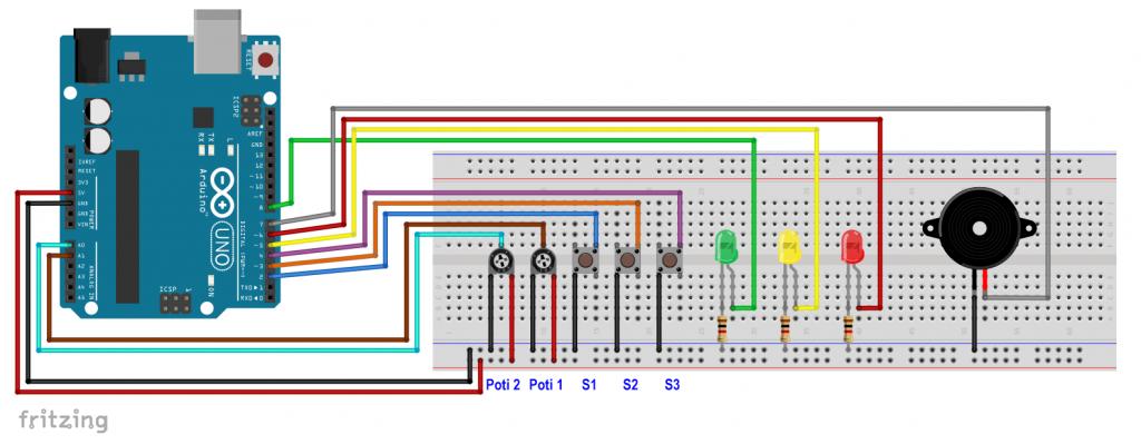 Ersatzschaltbild für den aTeVal 2.0 als Arduino UNO