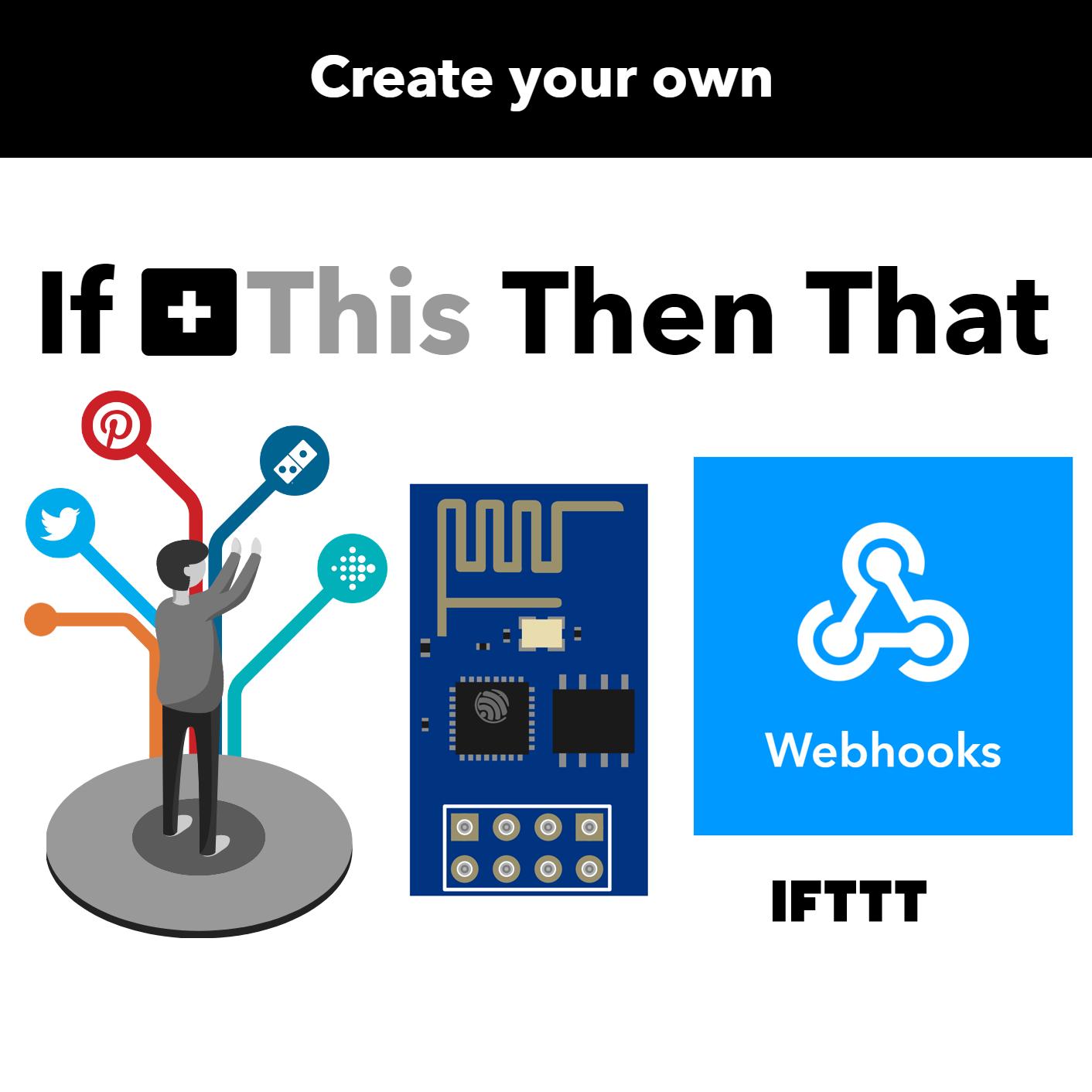 IFTTT und Webhooks mit dem ESP18 nutzen • Wolles Elektronikkiste