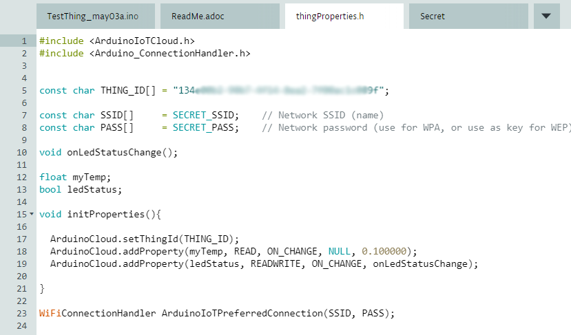 "Automatisch generierter File ""thingProperties.h"""