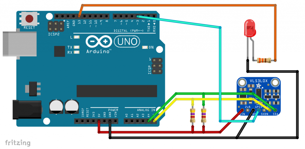 Connecting a VL53L0X (Model Adafruit) to an Arduino UNO