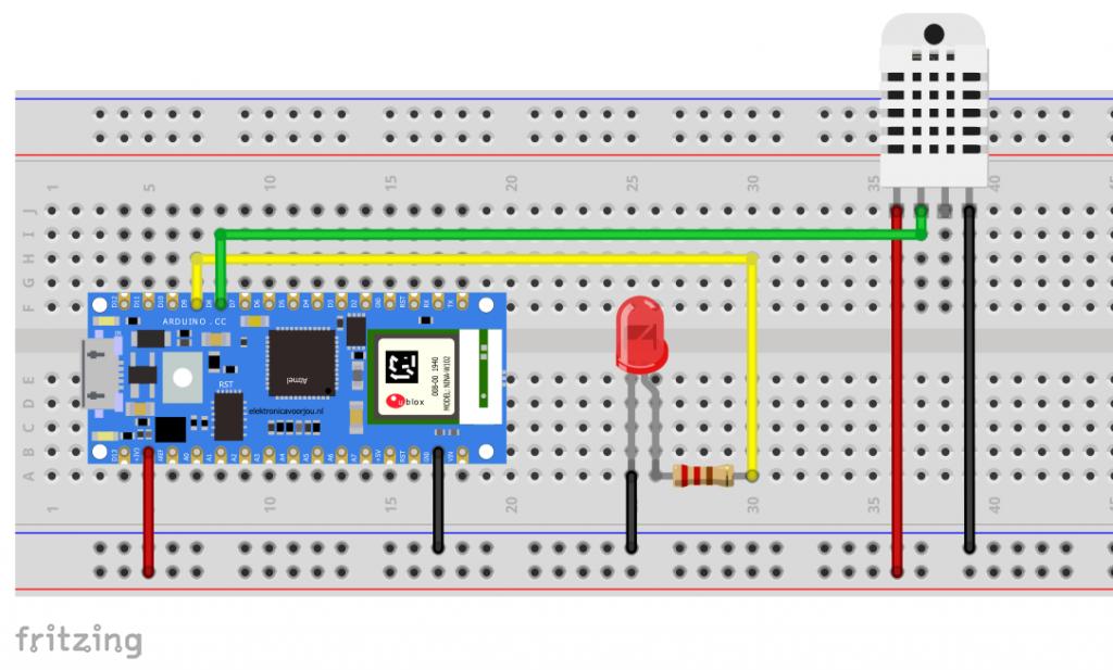 Schaltung für unser Arduino IoT Cloud Projekt