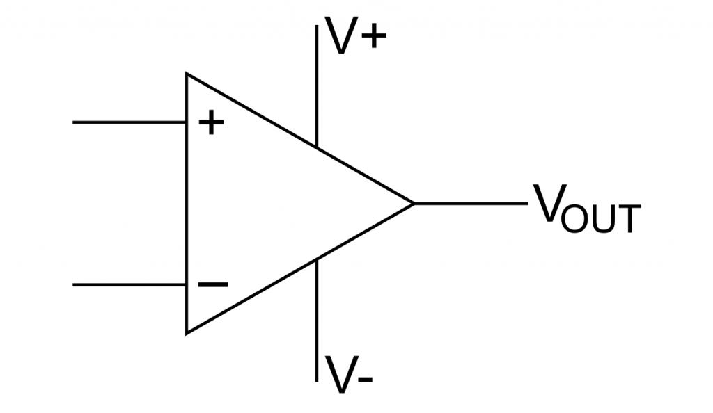 Operationsverstärker, schematisch