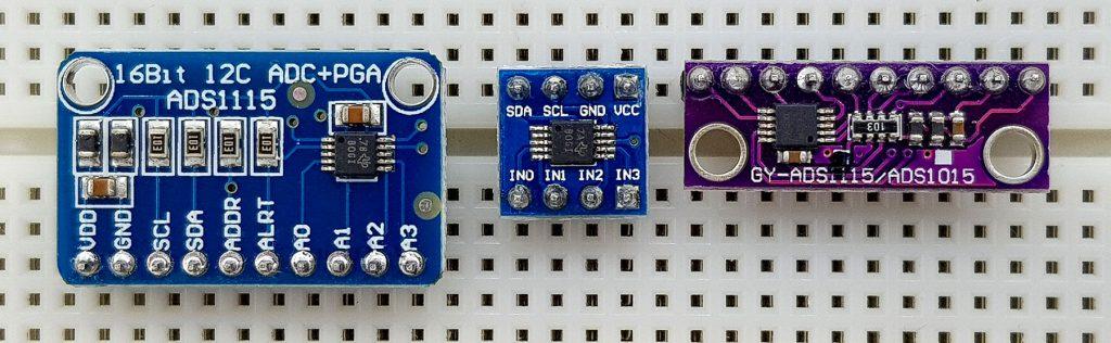 Verschiedene ADS1115 Module für den Stromsensor