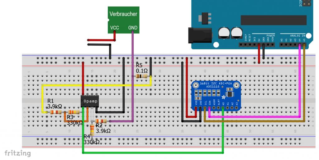 Stromsensor Kalibrierung mit dem ADS1115