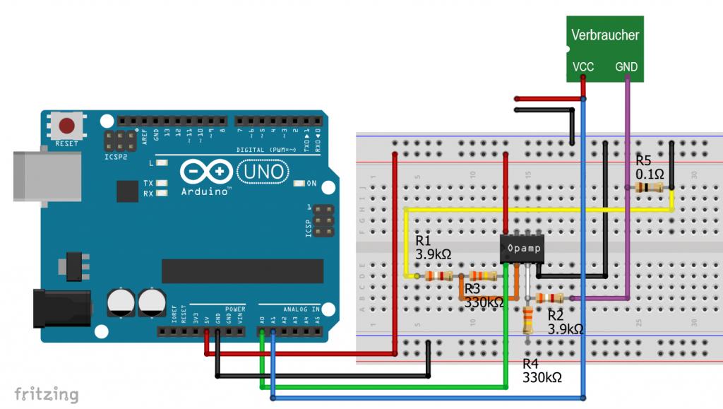 Der OpAmp basierte Stromsensor