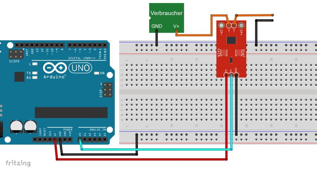 Der ACS712 am Arduino UNO