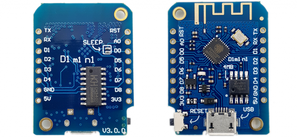 Das Wemos D1 Mini V3 Board