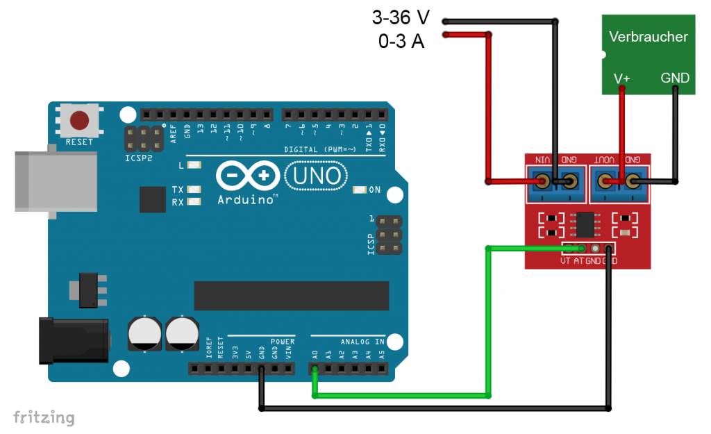 Alternatives MAX471 Modul am Arduino