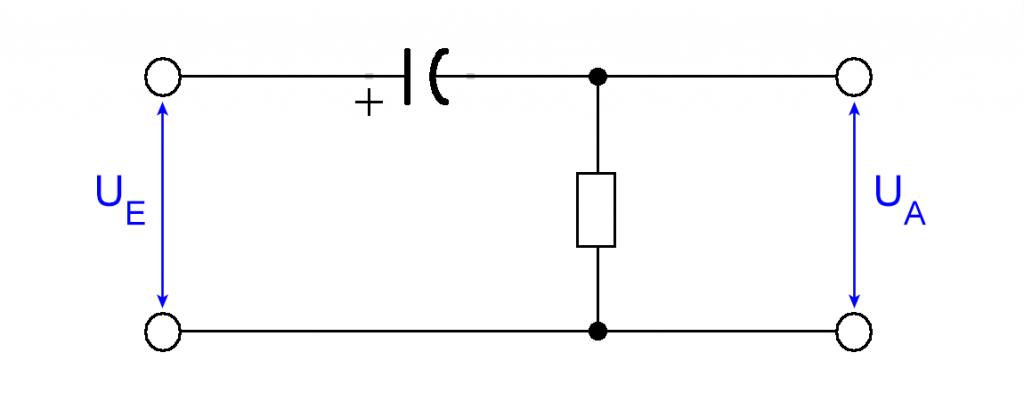 Ein Hochpass (CR-Glied, Differenzierglied)