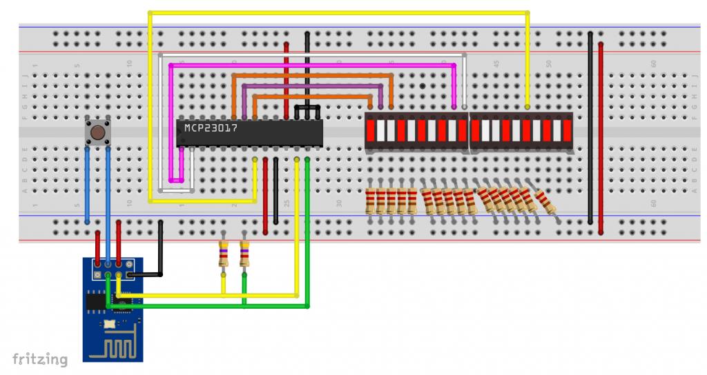 ESP-01 Porterweiterung mit dem MCP23107