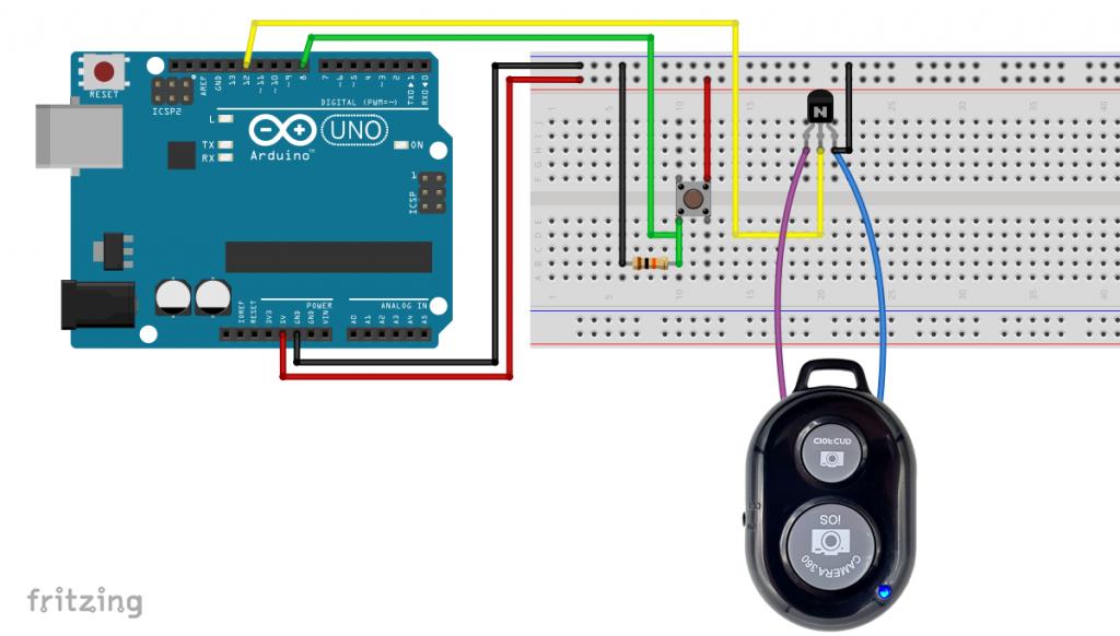 Nutzung gehackter Fernauslöser (Variante mit Transistor)