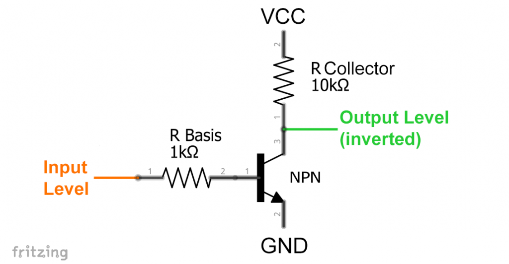 Simple circuit for inverting signals or logic levels