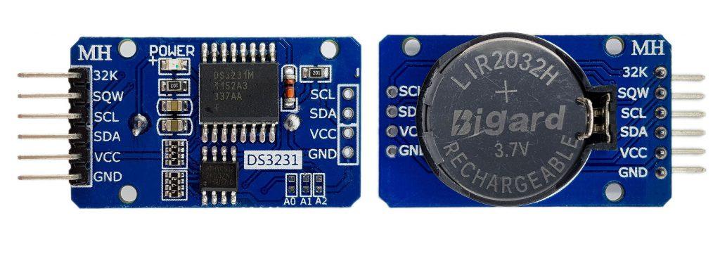 DS3231 Modul, Vorder- und Rückseite