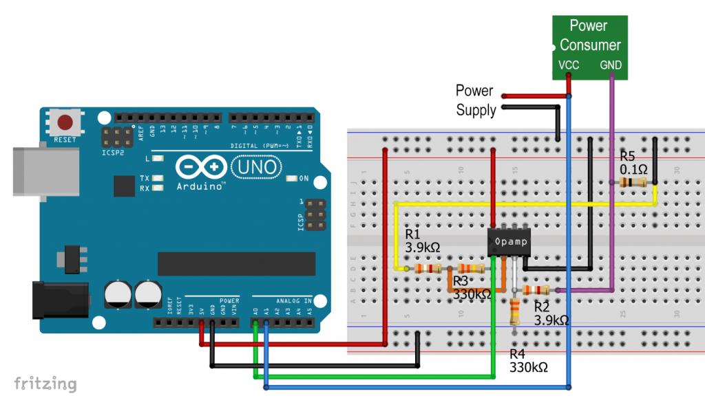 The op amp based current sensor
